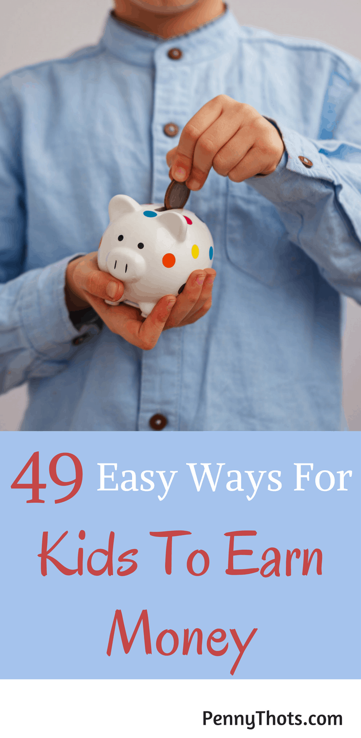 49 Easy Ways Kids Can Make Money. My son wanted to make money but we didn't know of any ways. This post gave us 49 tips and ideas for my kid to make money fast. Thanks so much!!
