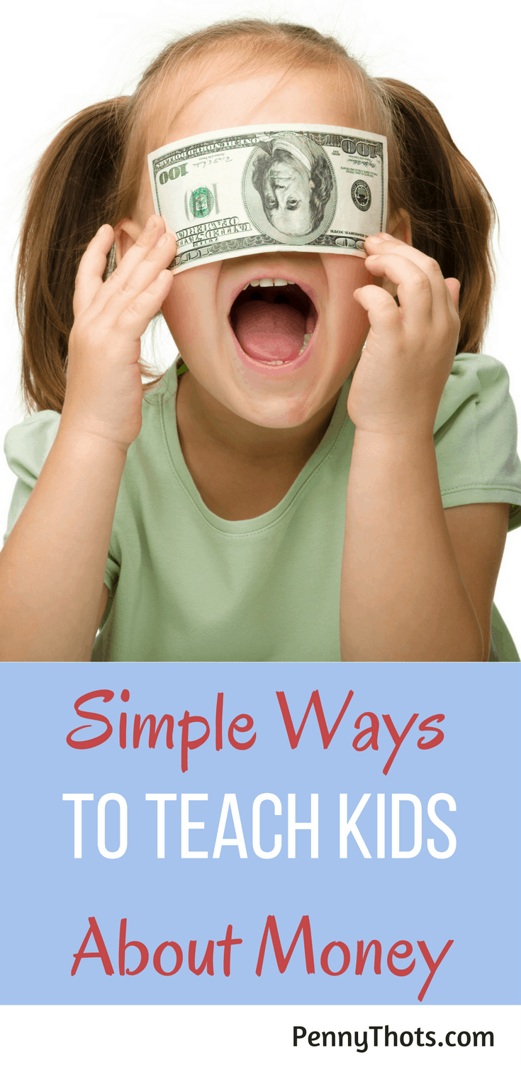 4 Simple Steps For Teaching Kids About Money | Are you looking for ways to help your kids better understand money so that it isn't a stress in their lives? Here are 4 great steps for teaching your kids the basics about money. Click through to learn more!