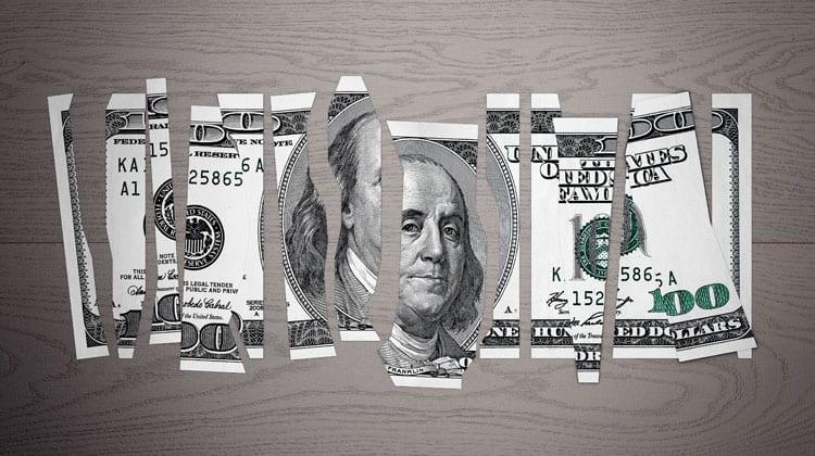 waste money shredded money