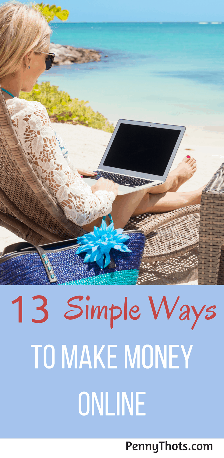 13 Incredibly Easy Ways To Make Money Online   Are you looking for ways to make money? I found this post with 13 incredibly easy ways to make money online. Most only require a few minutes a day but you can make money fast doing them. Click through to find one that works for you!