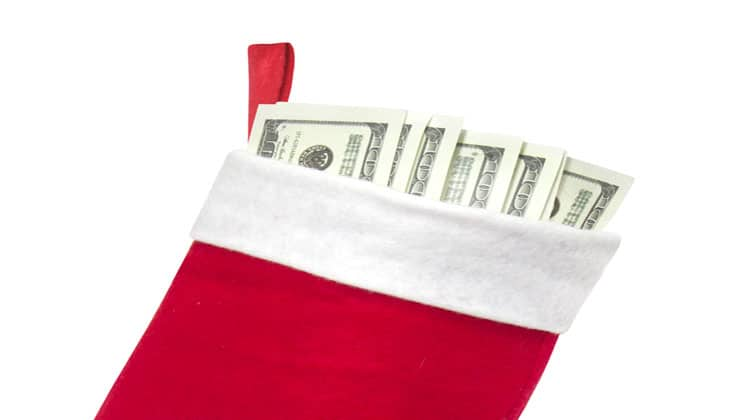christmas on a budget stocking
