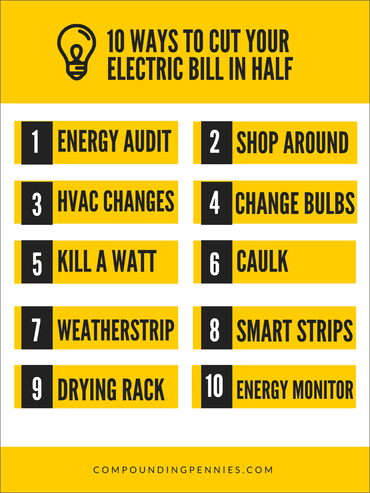 Cut Your Electric Bill In Half